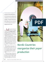 Nordic Countries Reorganize Their Paper Production 2008