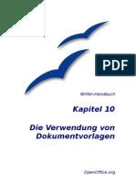 10 Verwendung Von Dokumentvorlagen