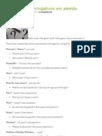 Pronomes Interrogativos em alemão