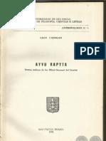 AYVU RAPYTA - Textos míticos de los Mbyá Guarani del Guairá - León Cadogan - Sao Paulo Brasil 1959 - Paraguay - PortalGuarani