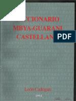 Diccionario Mbya Guarani Castellano - León Cadogan - 1992 - Paraguay - PortalGuarani