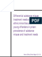 Differential Substance Misuse Treatment Needs of Women, Ethnic Minorities and Young Offenders in Prison - Prevalence of Substance Misuse and Treatment Needs (2003)