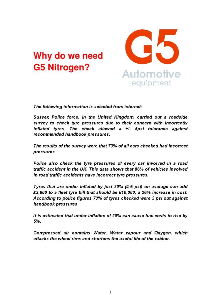 G5 Nitrogen Generator Catalogues   Tire   Pressure