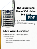The Educational Use of Calculator fx-570ES