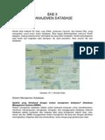 Bab x Manajemen Database