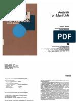 Munkres J Analysis on Manifolds