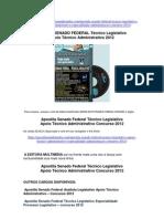 Apostila Senado Federal Técnico Legislativo Apoio Técnico Administrativo 2012