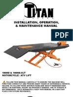 Titan Motorcycle Lift SDML-1000D Manual