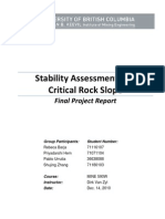 Stability Assessment of a Critical Rock Slope