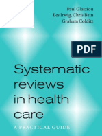 Systematic Reviews in Healthcare