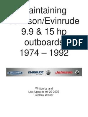 Maintaining Johnson 1974-1992 | Carburetor | Engines