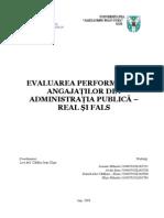 Evaluarea Performantei Angajatilor in AP.