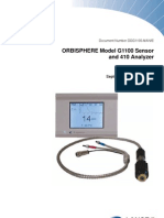 Or Bi Sphere G1100 Sensor and 410 Analyzer-User Manual