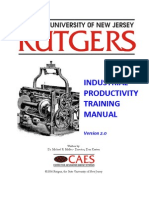 Industrial Productivity Training Manual Rutgers