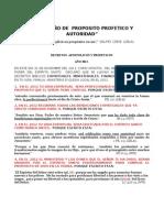 DECRETOS 2012   AÑO DE  PROPOSITO PROFETICO Y AUTORIDAD (1)