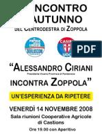 Festa Autunno Alessandro Ciriani Novembre 2008