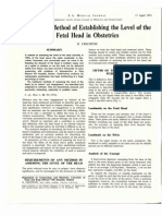 3.9 a Reliable Method of Establishing the Level of the Fetal Head in Obstetrics. d. Crichton