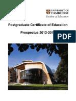 2012 PGCE Prospectus