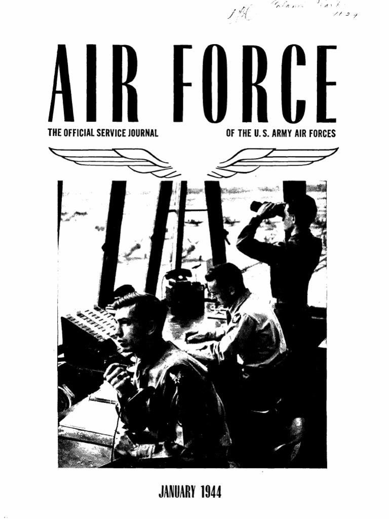 Air Force News ~ Jan-Mar 1944 | United States Army Air Forces | United  States Army Air Corps