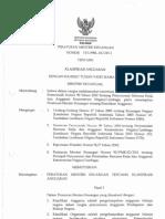 PMK 101 - 2011 - Klasifikasi Anggaran