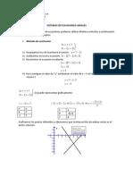 Sistemas de Ecuaciones Resumen
