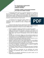 Declaracion Mundial Sobre La Educacion Superior