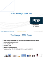 TCS building talent pool- Manpower Planning