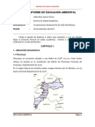 PRIMER INFORME DE EDUCACIÓN AMBIENTAL