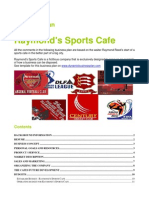 Business Plan Example Sports Cafe
