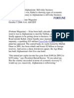 Making Money in Afghanistan 1