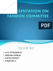 Tandon Committee Presentation