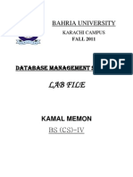 Dbms Lab File