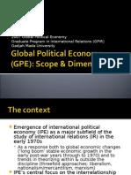 Global Political Economy (GPE) Scope & Dimension