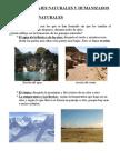 paisajes naturales y humanizados. tema de cono de 4º de primaria