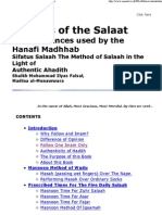 The Salaat With Evidences for the Hanafi Madhhab