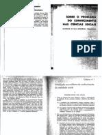 Sobre o Problema Do Conhecimento Nas Ciencias Sociais Sedas 1973