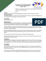 November 2011 Drug Free Minutes