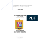 A Study on the Human Resource Management Procedures at Cambodia Asia Bank