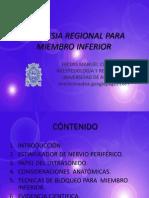 Anestesia Regional Para Miembro Inferior