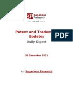 Sagacious Research - Patent and  Trademark Updates – 30-December 2011