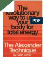 The Alexander Technique - Sarah Barker