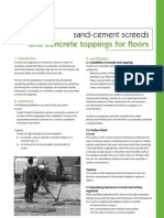 Sand Cement Floor Screeds 18092009