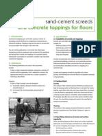 Sand Cement Floor Screeds 18092009