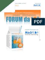 Come Creare e Promuovere Un Forum Da Zero Ver1