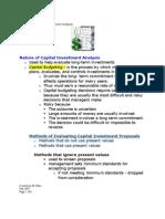Module 12 Capital Budgeting