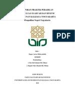 Cover Laporan Praktik Peradilan PN