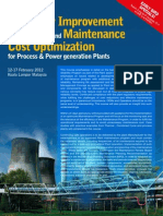 Reliability Improvement Program for Industrial Power Generation