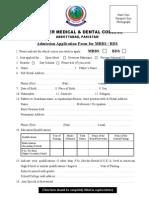 Admission Form 2012