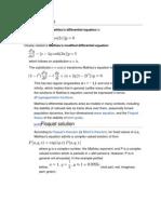 Mathieu Equation