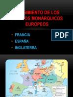 SURGIMIENTO DE LOS ESTADOS MONÁRQUICOS EUROPEOS